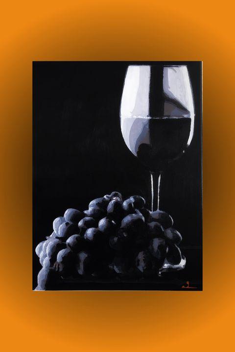 Wine and grapes - SloanArt