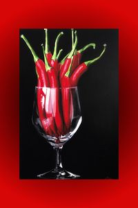 Chillies in a glass