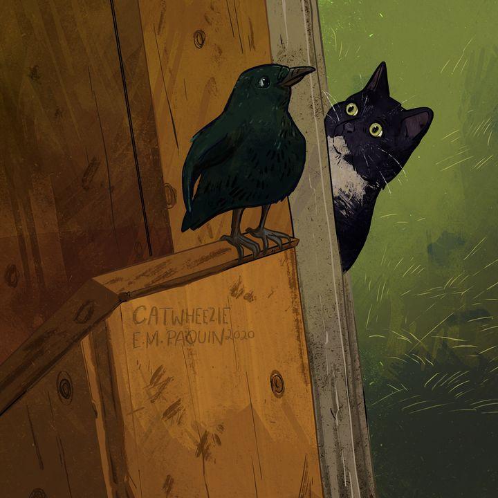 bird friend - Catwheezie's Print Gallery