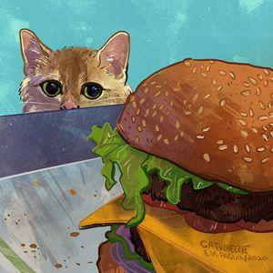Cheeseburger - Catwheezie's Print Gallery