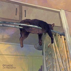 Hanging Out - Catwheezie's Print Gallery