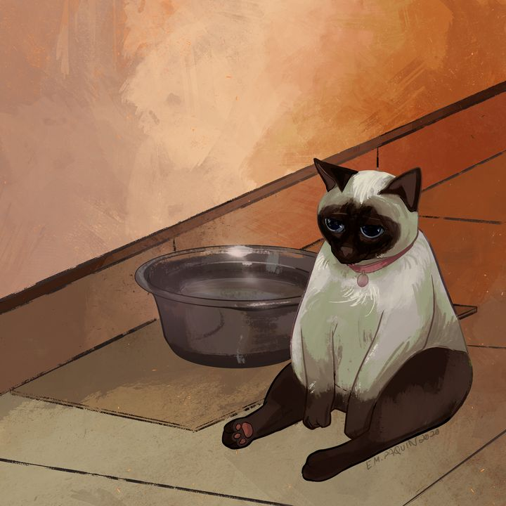 Depression Cat - Catwheezie's Print Gallery