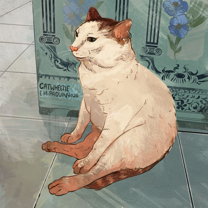 Sitting Cat - Catwheezie's Print Gallery