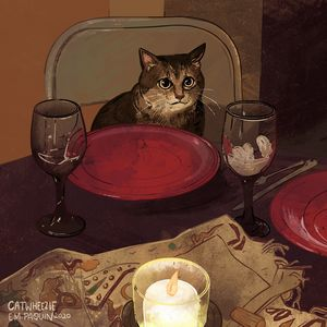 Dinner Date - Catwheezie's Print Gallery