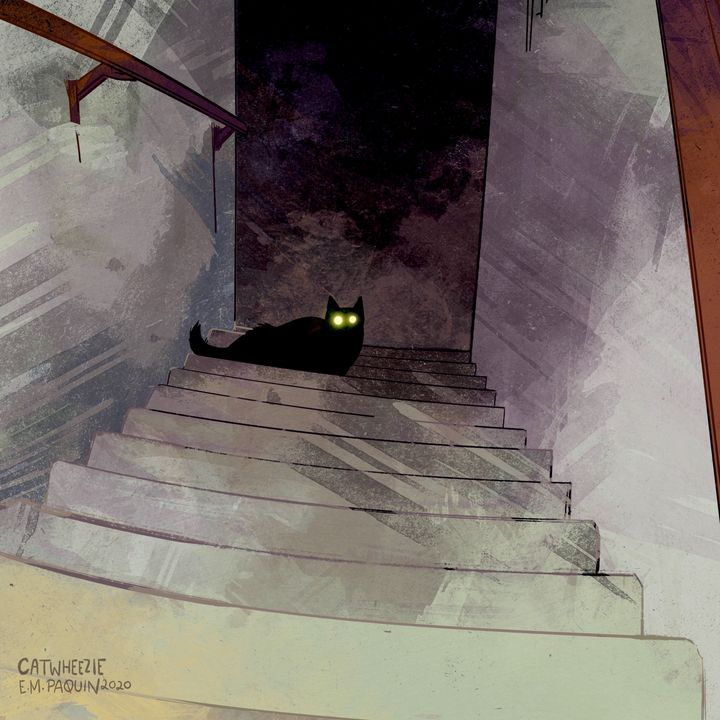 The Stairway - Catwheezie's Print Gallery