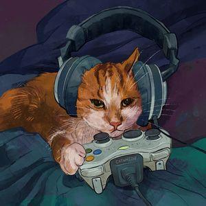 Gamer Cat - Catwheezie's Print Gallery