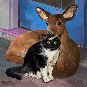 A Deer Friend - Catwheezie's Print Gallery