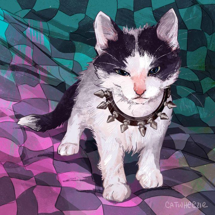 Punk Kitten - Catwheezie's Print Gallery
