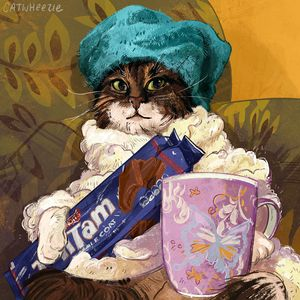 Self Care Cat - Catwheezie's Print Gallery