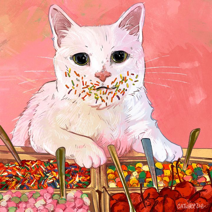 The Candy Buffet - Catwheezie's Print Gallery