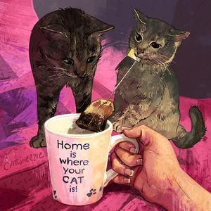 Home Is Where Your Cat Is! - Catwheezie's Print Gallery