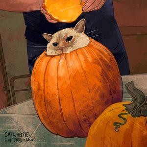 Pumpkin Head - Catwheezie's Print Gallery