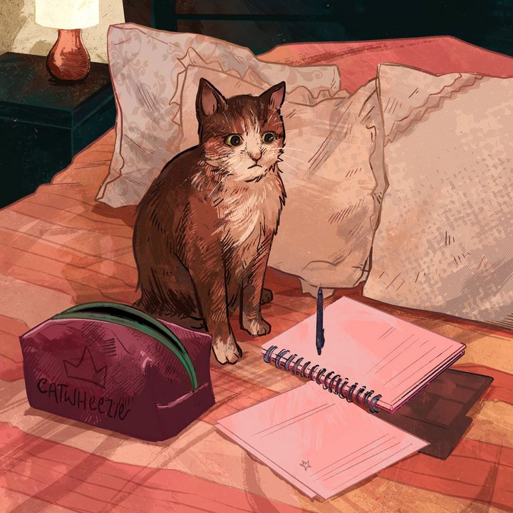 Do Your Homework, Cat! - Catwheezie's Print Gallery