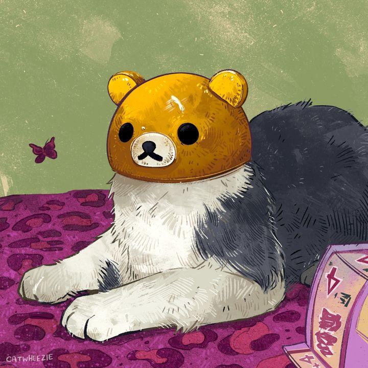 Kawaii Bear Head Cat - Catwheezie's Print Gallery