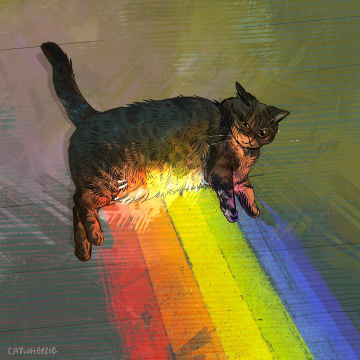 The Gold at the End of the Rainbow - Catwheezie's Print Gallery
