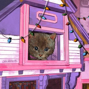 Pastel House - Catwheezie's Print Gallery