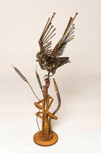 The Hunter - Steel Sculpture by John Pahlas
