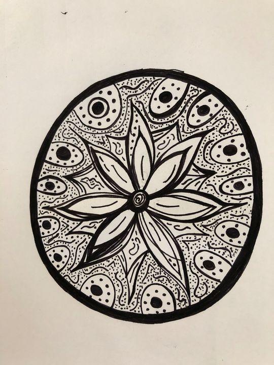 Black & White flower - RoseBud