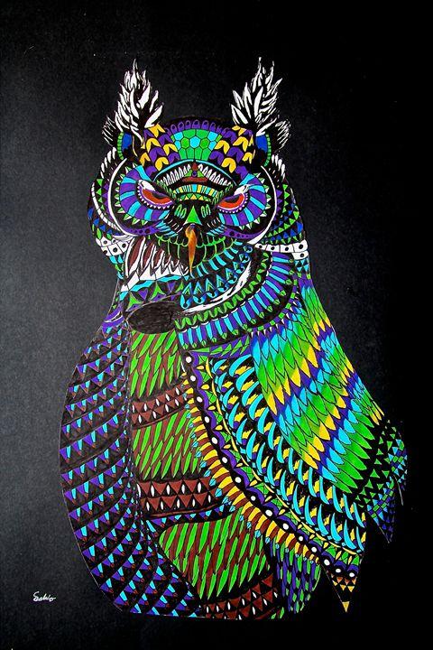 Dynamic Owl - Sean Havis Art