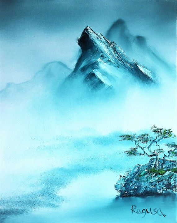Mist at Mountains Feet - Ron Ragusa