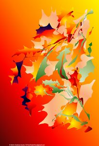 Leaves in Flame by J Chatham (Left)