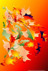 Leaves in Flame by J Chatham (Right)
