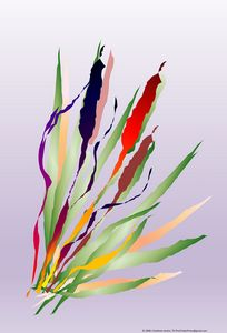 Cattails in Lavender by J Chatham