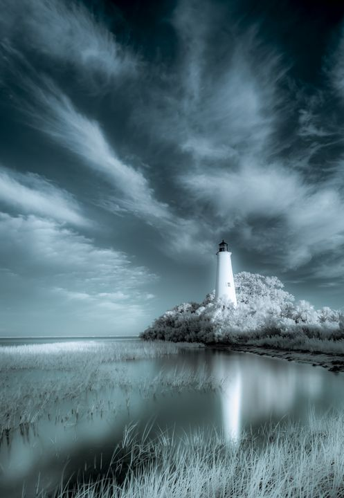 The Lighthouse at St. Marks - Photography by Michael Riffle