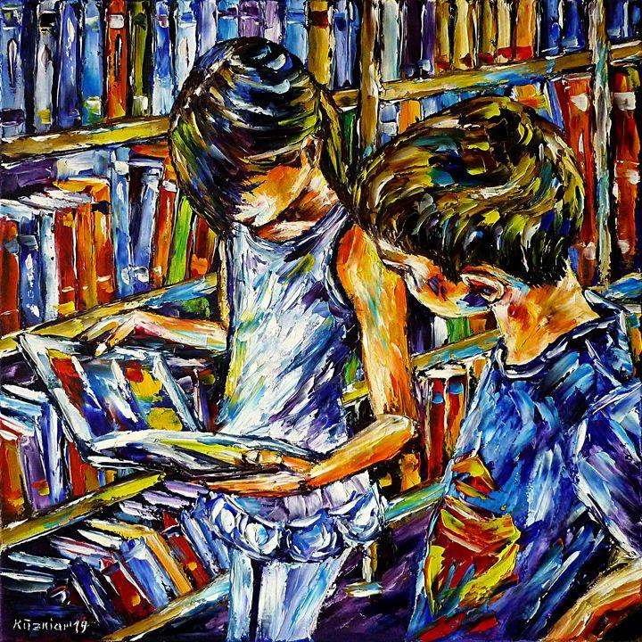 In The School Library - Mirek Kuzniar