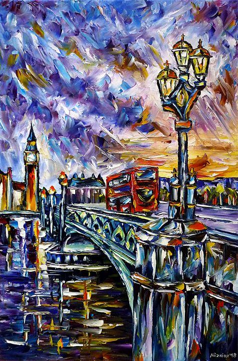 Sunset At Westminster - Mirek Kuzniar