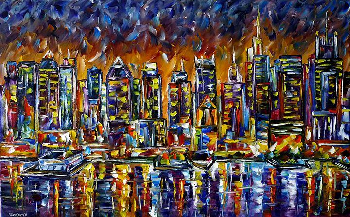 Manhattan Skyline - Mirek Kuzniar