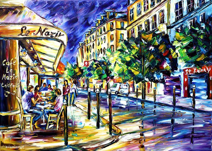 At Night On Montmartre - Mirek Kuzniar