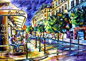At Night On Montmartre