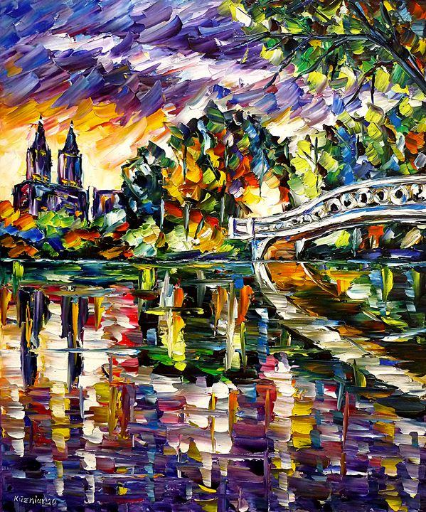 Central Park In The Evening Light - Mirek Kuzniar