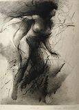 Drypoint engraving Nude
