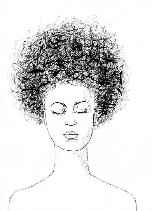 Afro hair - John Bucknall