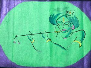 Krishna Acrylic canvas paint
