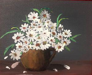 Pot full of flowers