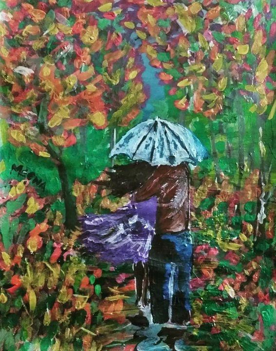 Couple under umbrella - meenakart