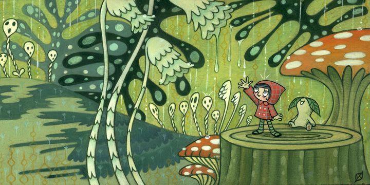 Waiting For The Rain - Moss Moon Studio