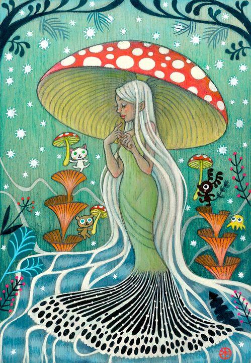 Amabie, The Healing Spirit - Moss Moon Studio