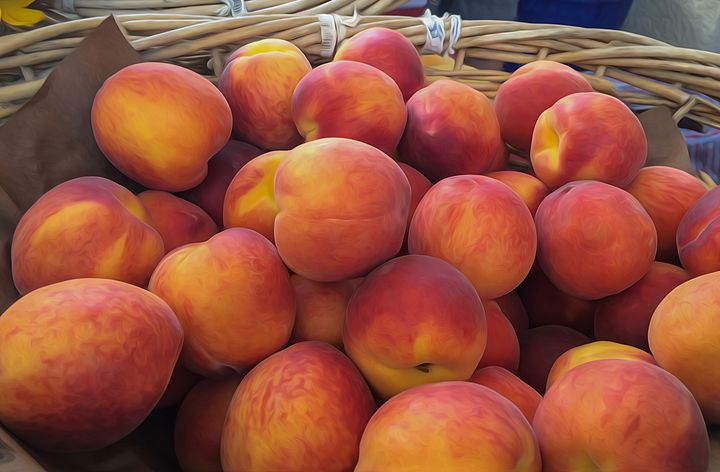 Basket of Peaches - Michael Moriarty Photography