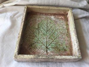 Raku ceramic plate platter tray