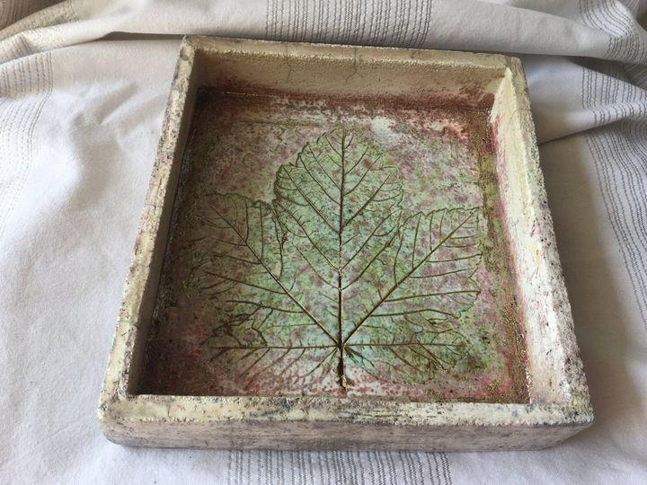 Raku ceramic plate platter tray - DanicArts