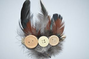 Feather Hair Clip - Fledgling Creations