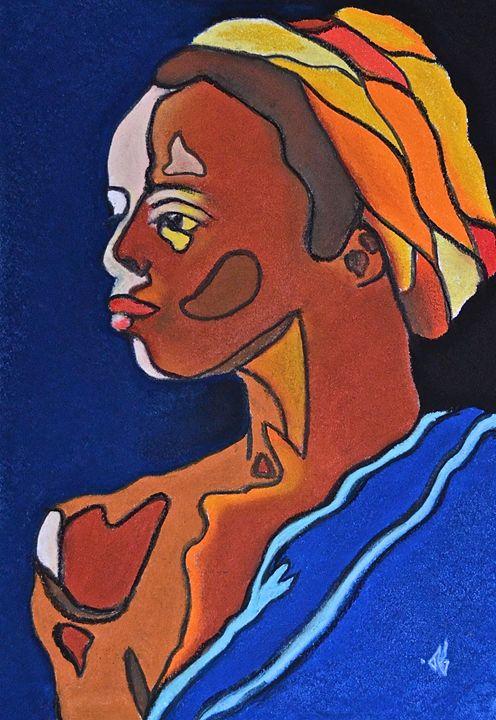 The lady traveler-female portrait - Remy Grenier