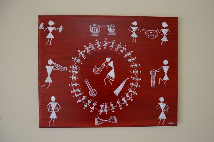 Warli oil painting - Aishu art