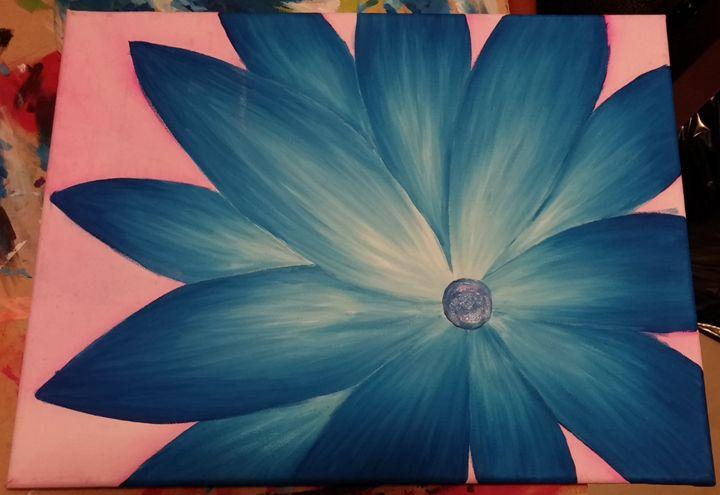 Blue flower - Art at home