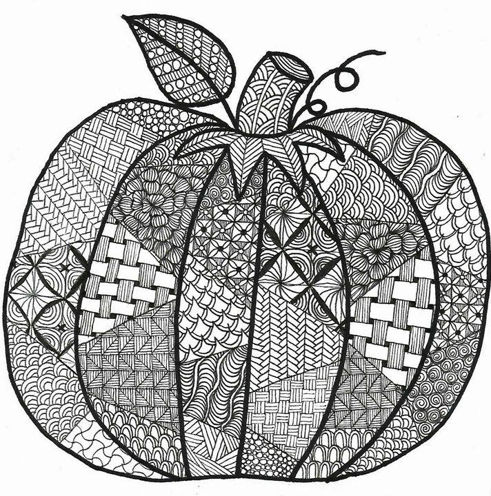 Zen Pumpkin - Ink'd by A