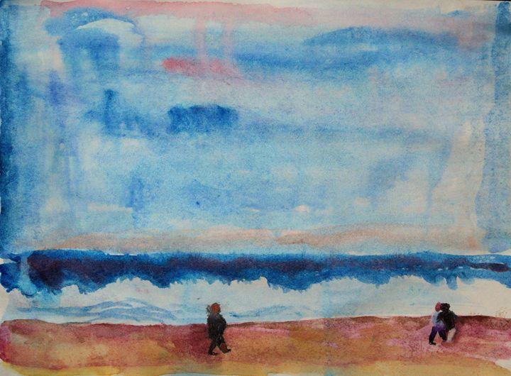 Walk along Jones Beach - Don Schaeffer's Gallery